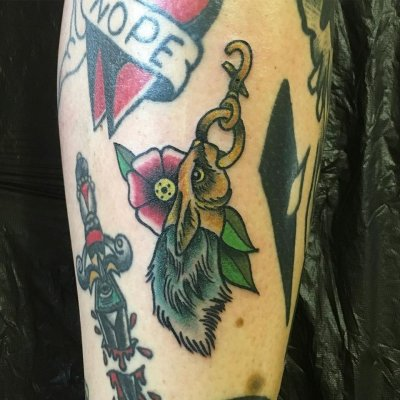 lucky rabbits foot tattoo