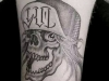 black skull tattoo famous