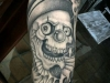 clown skull tattoo