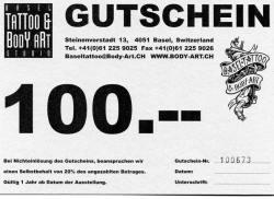 CHF 100 Gutschein