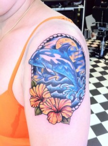 Beautiful dolphin tattoo