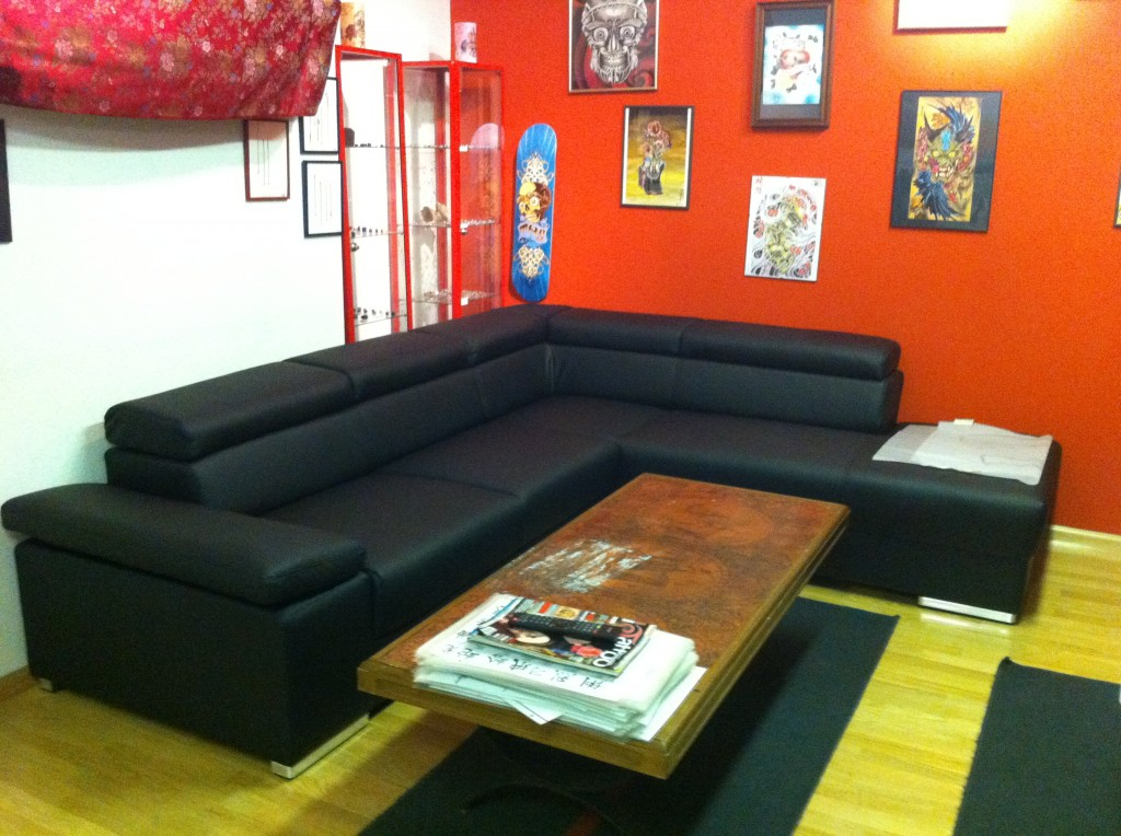 Waiting area-New Sofa!