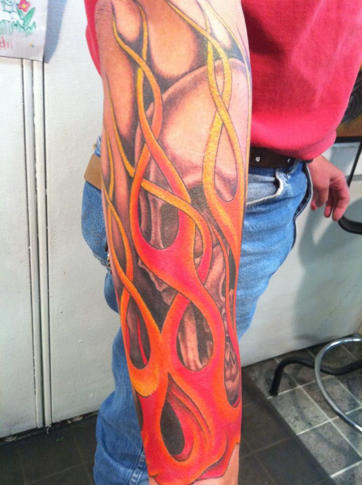 flames tattoo