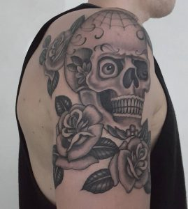 black-and-grey-skull-tattoo