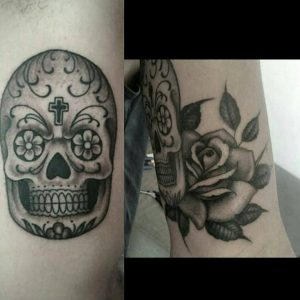mexican-skull-tattoo-black-and-grey