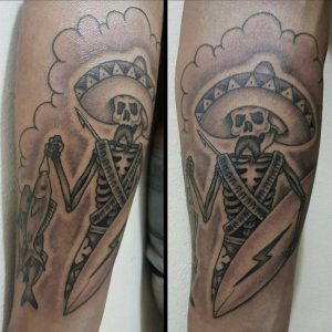 mexican-tattoo-tattoo-skull-with-sombrero