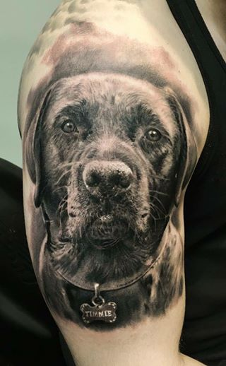 labrador tattoo design