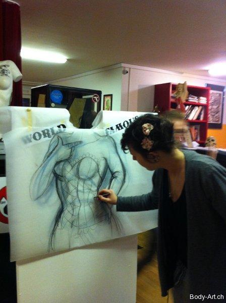 Tattooed Lady Sketch