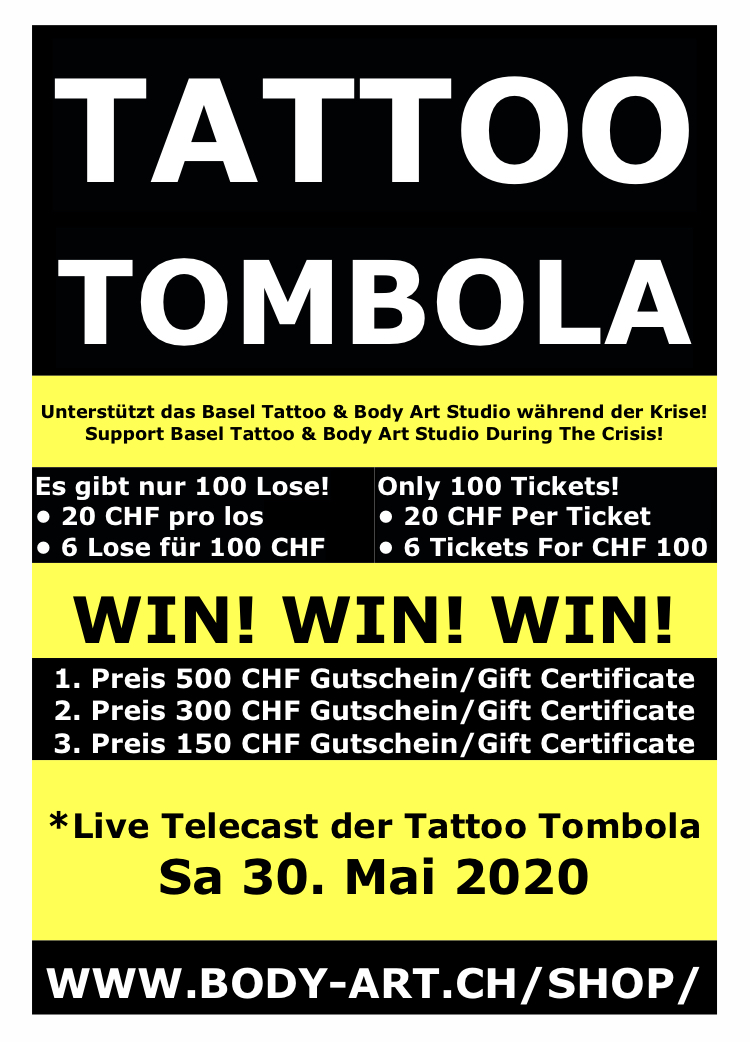Bald! Soon! Tattoo Tombola